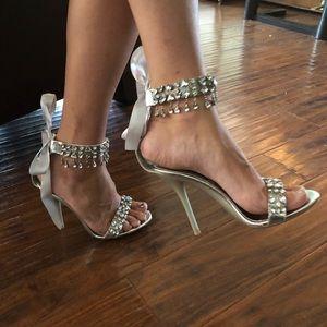 Fredrick's of Hollywood Rhinestone Sexy Heels Sz 7
